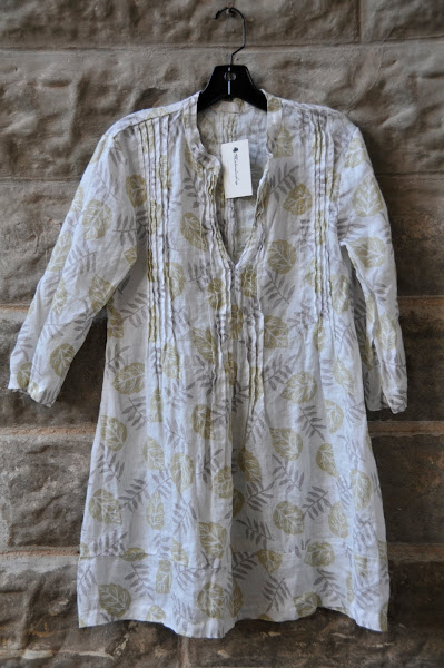 CPShades Regina printed linen tunic