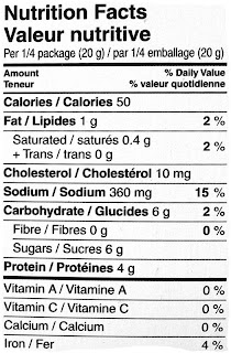 canadian maple beef jerky nutrition label