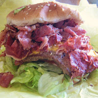the hat pastrami burger