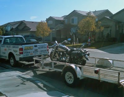 trailering a motorcycle
