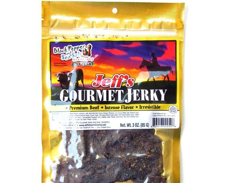 Jeff S Gourmet Jerky Black Pepper Amp Sea Salt Beef