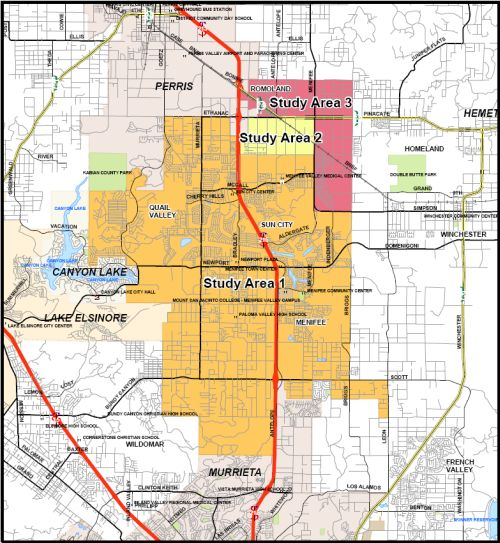 Below is a map showing what the proposed City of Menifee Valley might look like.
