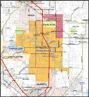 Menifee Valley Map Boundaries