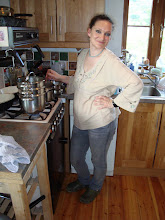 Grainne at the cooker
