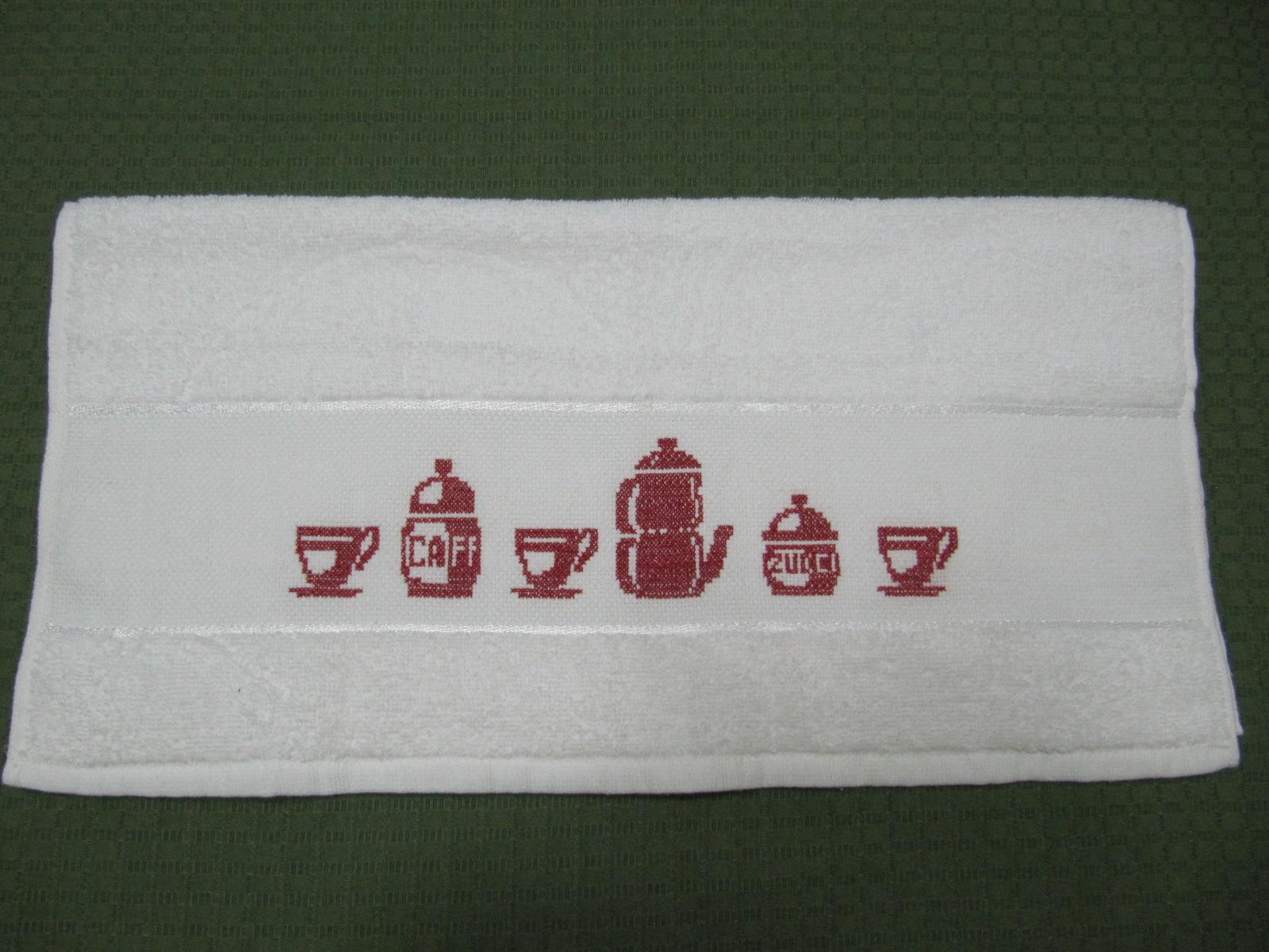 Mercería de Labores: Paños de Cocina bordados con Punto de Cruz
