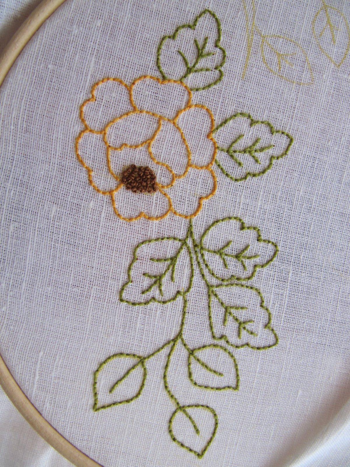 Las Labores de Mari Angeles: Haciendo Bordados de Flores a Pespunte