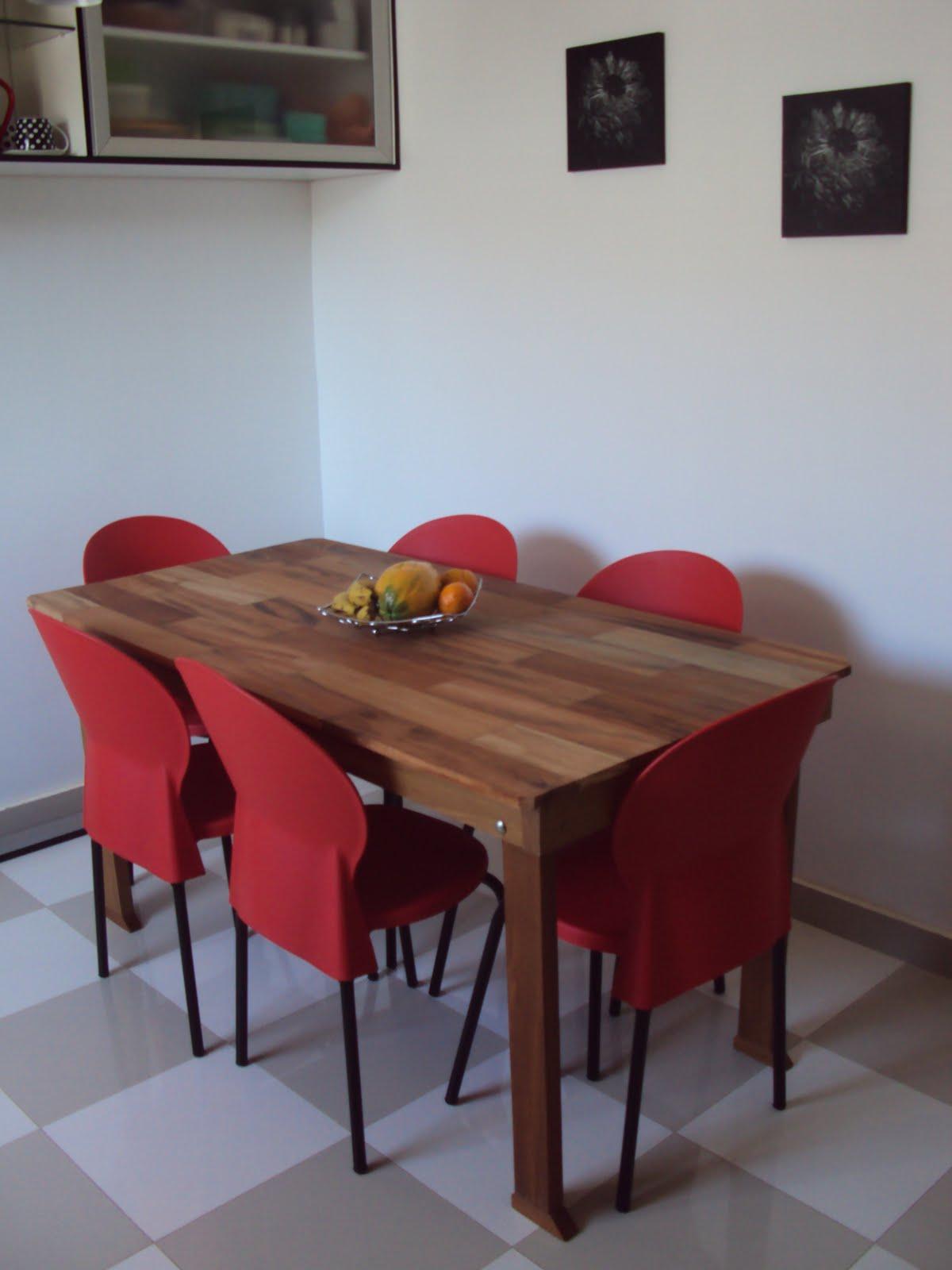 se fosse na minha casa: Nossa cozinha já tem mesa e cadeiras #793A39 1200x1600