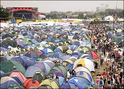 Leeds Festival on Weekend Camping