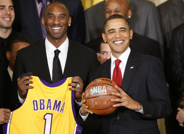 Los Angeles Lakers Kobe Bryant Barack Obama