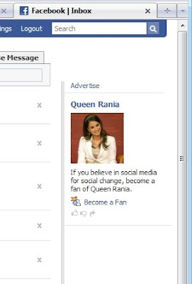 queen rania advertises on facebook