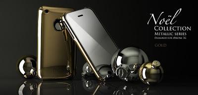 Noel Metallic Gold iPhone Cases for Christmas