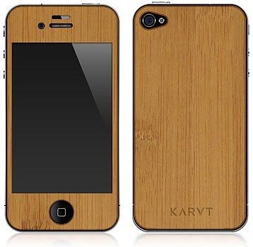 made of silicone and plastics but Karvt's real wood cool iPhone 4 skins