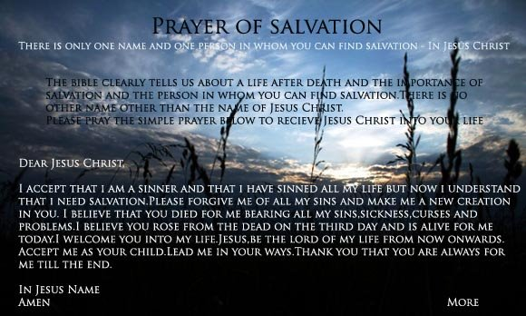 Salvation : Only in Jesus Christ!
