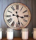 Vintage-klokke på kjøkkenet