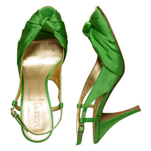 green wedding shoes 2009