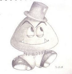 Dancing Goomba - I drew this for my friend Jason who loves goombas :-D