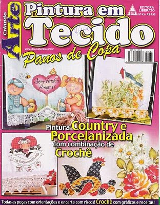 Download - Revista  Pintura Country Porcelanizada e Crochet