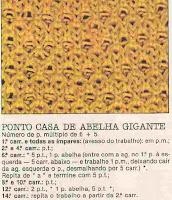Pontos de abelhas, em tricot zzuzzzz.....