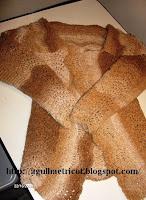 Meu casaqueto em lã com cor em camadas
