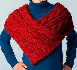 Pelerine Red yarn