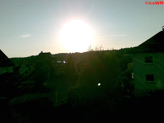 Sonnenuntergang über Oberzell