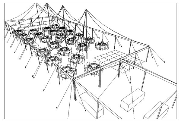 Captivated by design february 2011 for Wedding tent layout tool