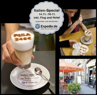 publicidad hasta en la espuma del café
