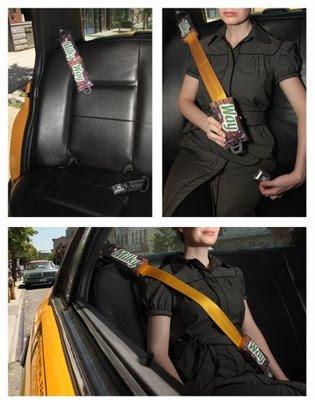 ¡Publicidad hasta en el cinturón de seguridad!