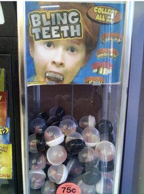 Vending de dentaduras postizas de broma