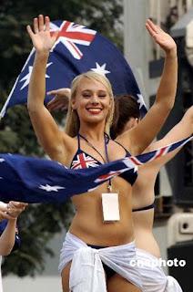 Sexy Hot Australian Woman - Patriotic