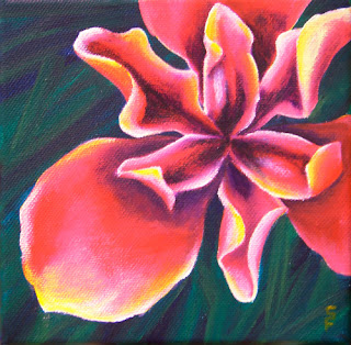 Lily Acrylic Painting