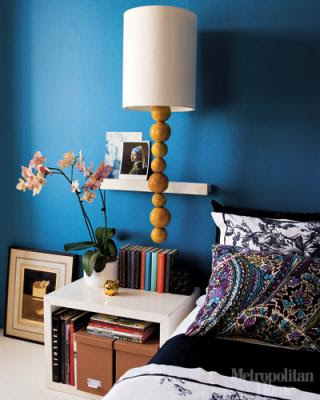 blue bedroom wall photo