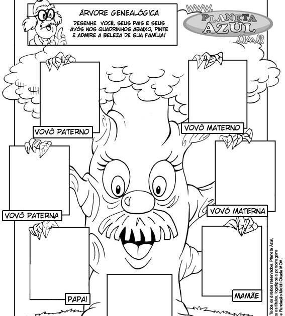 Fabuloso Árvore genealógica - Projeto Quem sou? - A Arte de Ensinar e Aprender ED09