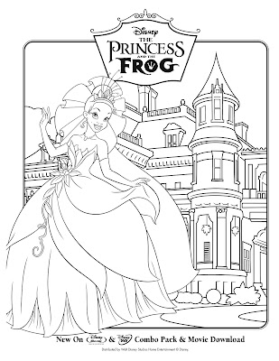 princess and frog coloring pages. disney princess and the frog