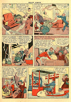 Vintage cartoon character Plastic Man turns himself into a bed in this classic page by artist Alex Kotzky.