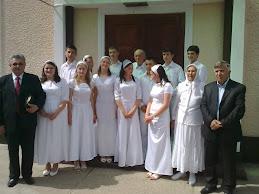 Zi binecuvantata,zi de sarbatoare. 13  botezuri in apa la biserica din Felnac