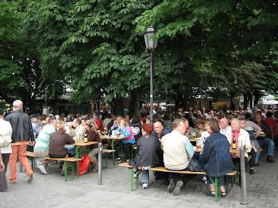 Biergarten en Munich