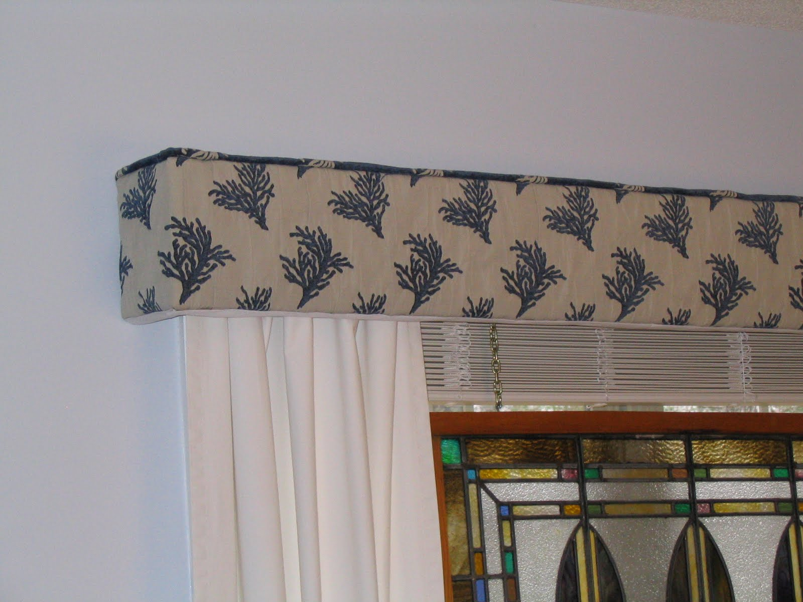 How to make straight custom upholstered cornice boards title=