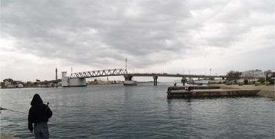 Tunisia, bridge,bizerte, panorama