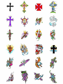 Tattoo flash art crosses 320