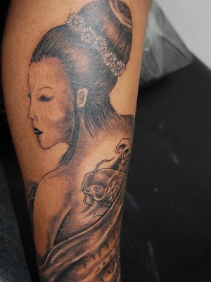 Sexy Hot Geisha Tattoos For Girls On Arm