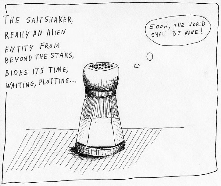 drawing of a salt shaker