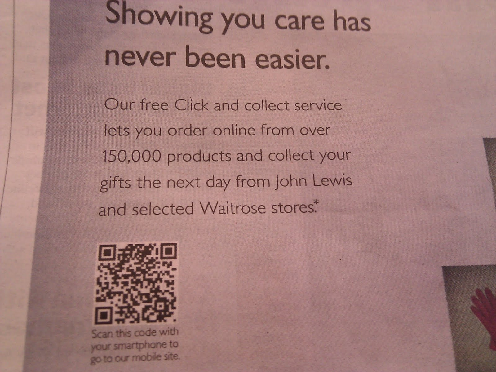 John lewis qr code on christmas shopping newspaper ad sciox Choice Image