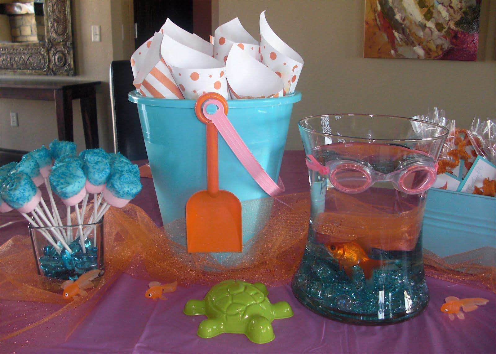 Goldfish Birthday Decorations Image Inspiration of Cake and