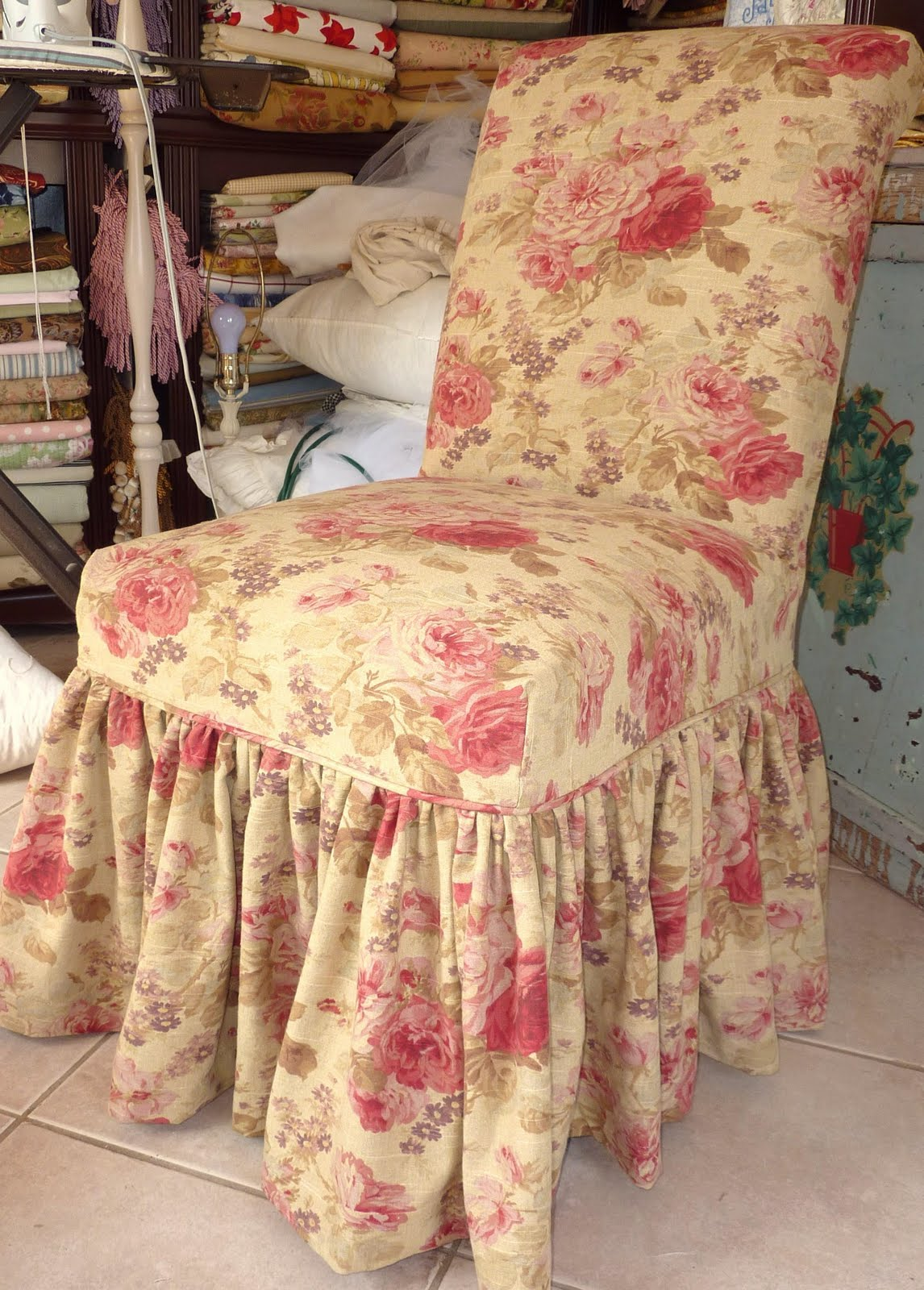 Cottage By Design With Trish Banner Parsons Chair Ruffled Slipcover