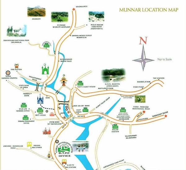 Munnar Map Munnnar Location Map Munnar Tourist Map City