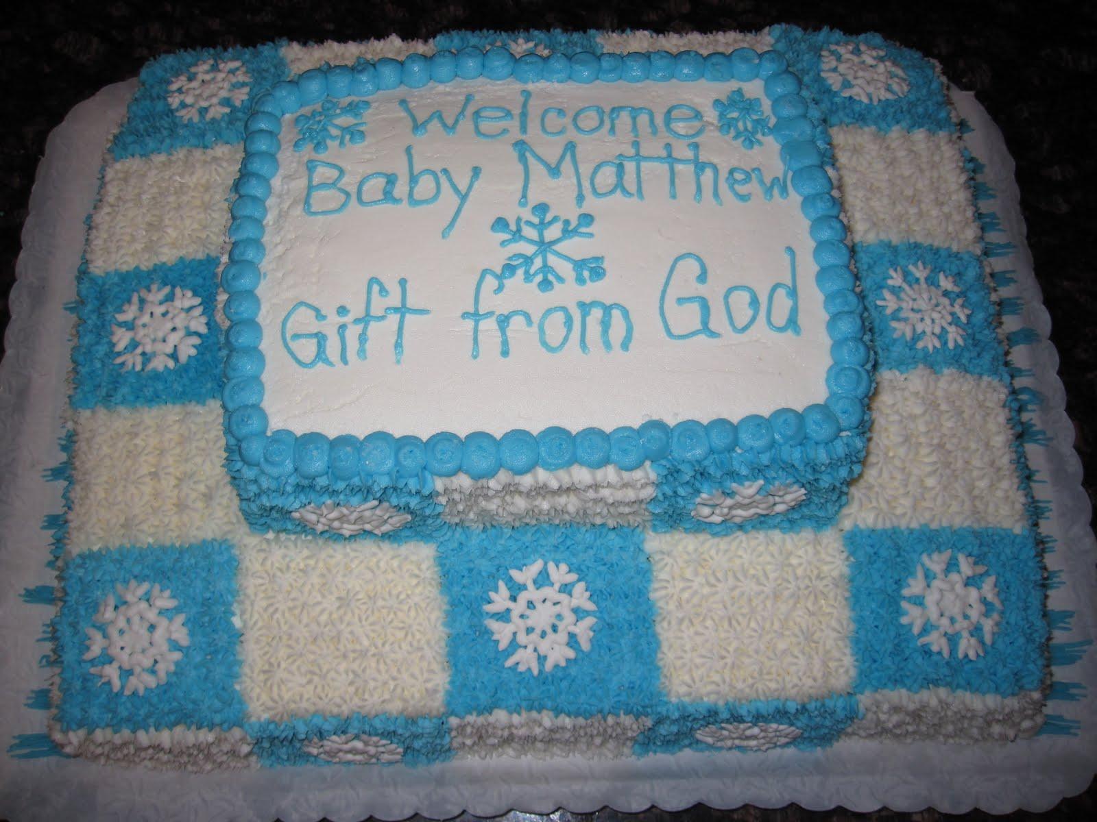 taste see cake design snowflake baby shower