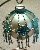My beaded Christmas Ornament