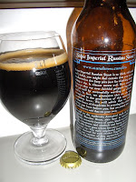 Stone Imperial Russian Stout back label
