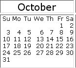 October 2010 events